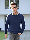 TEAMPROJECT - Rundhals-Pullover aus 100% Schurwolle