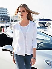 Just White - Blusen-Jacke mit V-Ausschnitt