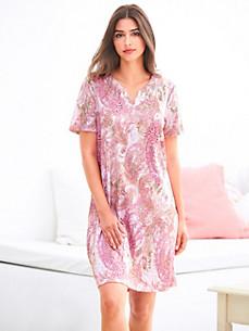 Charmor - La chemise de nuit à col V et manches courtes