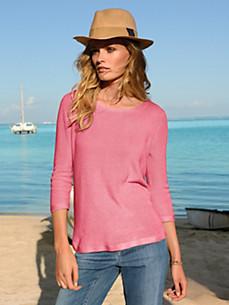 DAY.LIKE - Rundhals-Pullover mit 3/4-Arm aus 100% Baumwolle