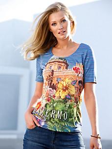 Efixelle - Le T-shirt encolure dégagée et manches courtes