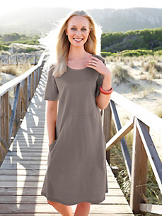 Green Cotton - Jersey-Kleid mit 1/2- Arm aus 100% Baumwolle