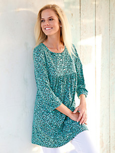 Green Cotton - Jersey-Tunika mit Gummizug am 3/4-Arm