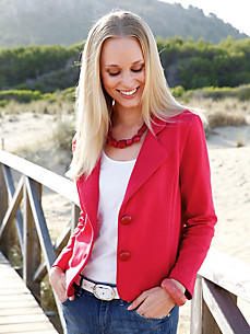 Green Cotton - Le blazer en jersey