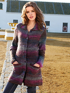 Inkadoro - Long-Strickjacke
