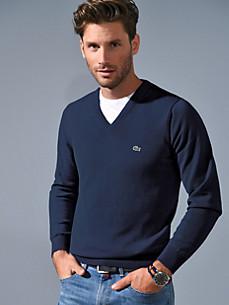 Lacoste - Le pull en pur coton à col V