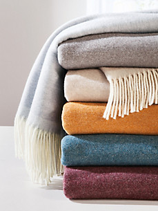 Lanerossi - Le plaid en laine vierge et cachemire, 90x180cm