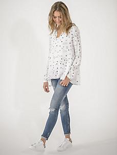 LIEBLINGSSTÜCK - Viskose-Bluse in A-Linie und V-Ausschnitt