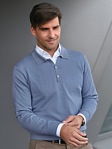 TEAMPROJECT - Polo-Pullover aus 100% Schurwolle