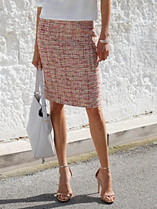Uta Raasch - La jupe courte coupe droite en tissu bouclette