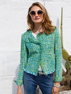 Uta Raasch - La veste en tissu bouclette avec franges