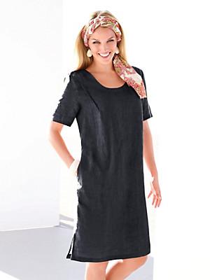 Anna Aura - Kleid mit 1/2-Arm in reinem Leinen