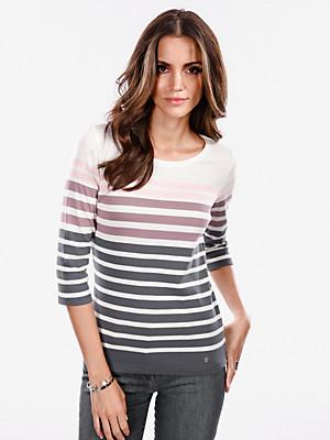 Brax Feel Good - Ringel-Shirt mit 3/4-Arm in 100% Baumwolle