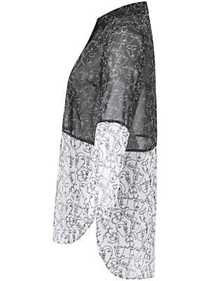 Doris Streich - Long-Bluse in Patch-Optik