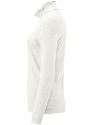 Efixelle - Rippen-Shirt mit Stehbund-Kragen