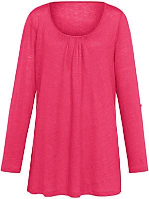 Emilia Lay - Rundhals-Shirt in A-Form aus 100% Leinen