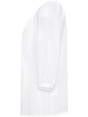 Just White - Bluse aus 100% Baumwolle