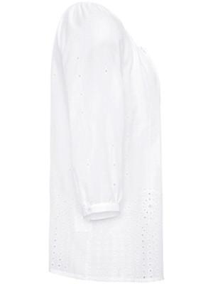 Just White - Bluse aus 100% Baumwolle