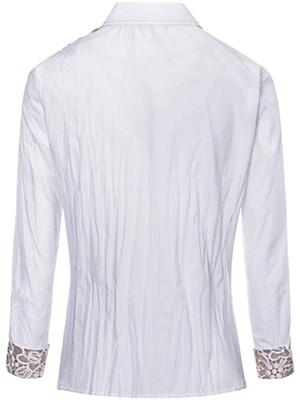 Just White - Bluse mit Spitze