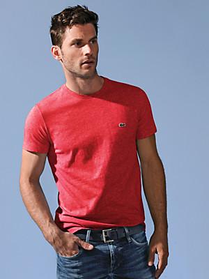 Lacoste - Rundhals-Shirt  mit 1/2-Arm aus 100% Baumwolle