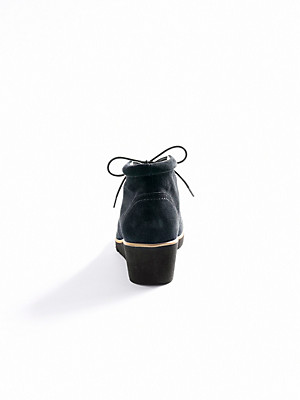 Ledoni - Ankle-Boot aus gegerbtem Kalbsveloursleder