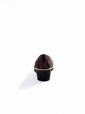 Ledoni - Pumps aus Kalbsveloursleder