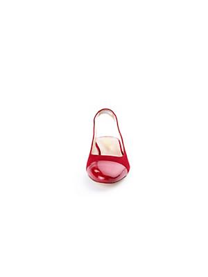 Ledoni - Sling-Ballerina aus  Ziegenveloursleder