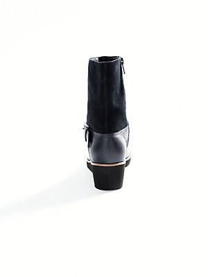 Ledoni - Stiefelette aus Kalbsveloursleder