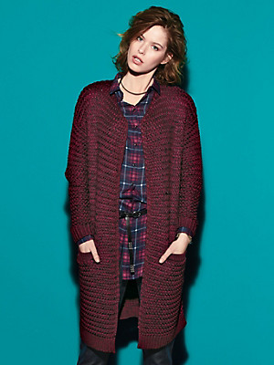 Looxent - Long-Strickjacke