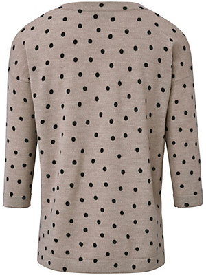 Looxent - Rundhals-Pullover mit 3/4-Arm aus 100% Schurwolle