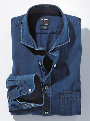 Olymp - Jeanshemd aus 100% Baumwolle