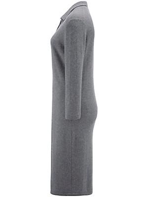 Peter Hahn Cashmere - Polo-Strickkleid mit 3/4-Arm aus reinem Kaschmir