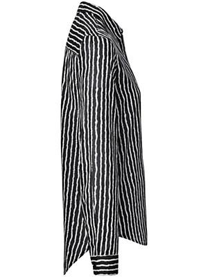 Peter Hahn - Hemdbluse mit Streifen-Print