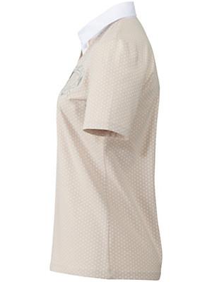 Peter Hahn - Polo-Shirt mit reizendem Pünktchen-Druck
