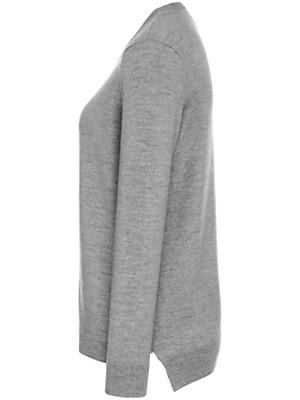 Peter Hahn - Rundhals-Pullover mit kleinen Seitenschlitzen