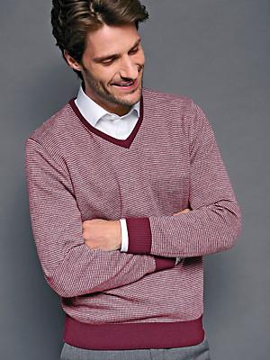 Peter Hahn - V-Pullover in 100% Schurwolle