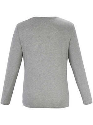 Samoon - Streifen-Shirt mit Glitzer-Streifen