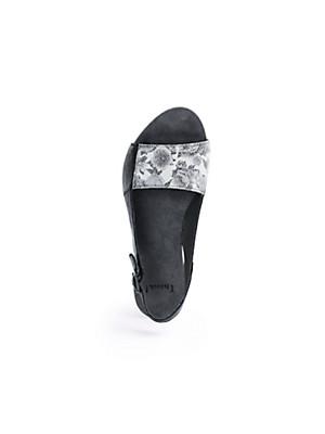Think! - Plateau-Sandale aus Ziegennappaleder