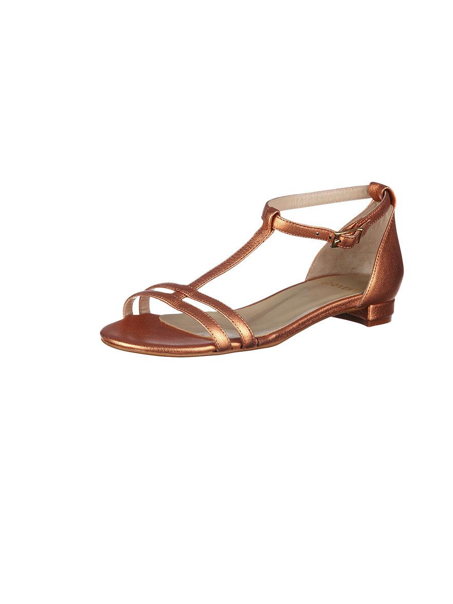 uta raasch sandalen aus feinem ziegennappaleder apricot metallic. Black Bedroom Furniture Sets. Home Design Ideas