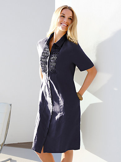 Anna Aura - Hemdblusen-Kleid mit 1/2-Arm aus 100% Leinen