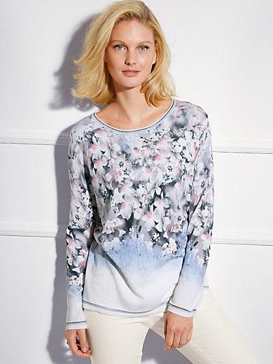 Basler - Pullover in 1/1 Arm mit sommerlichem Blüten-Druck