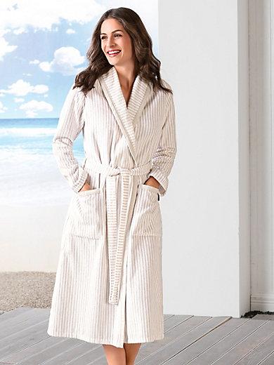Cawö - Velours-Mantel mit Schalkragen
