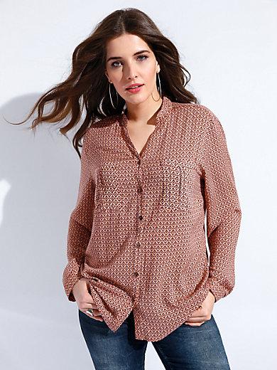 FRAPP - Bluse mit V-Ausschnitt