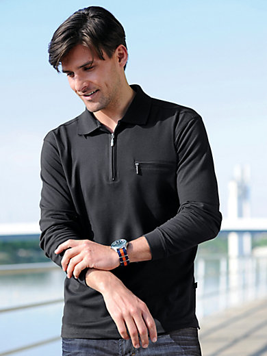 "HAJO - Polo-Shirt mit 1/1 Arm und ""Stay fresh"""
