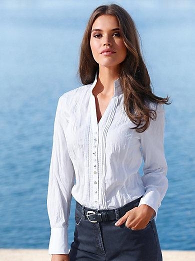 Just White - Bluse mit V-Ausschnitt