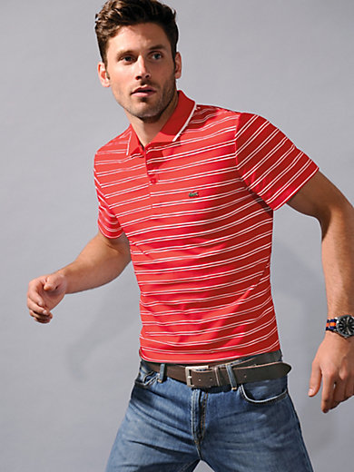 Lacoste - Ringel-Polo-Shirt mit 1/2-Arm