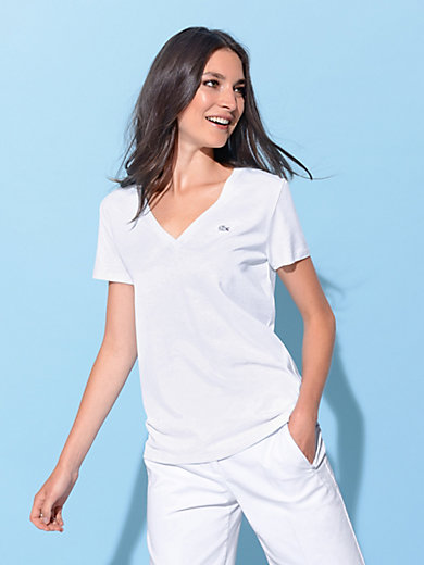 Lacoste - V-Shirt mit 1/4 Arm und gerader Form