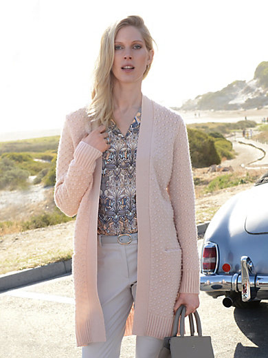 Laura Biagiotti Donna - Long-Strickjacke aus 100% Kaschmir und Taschen