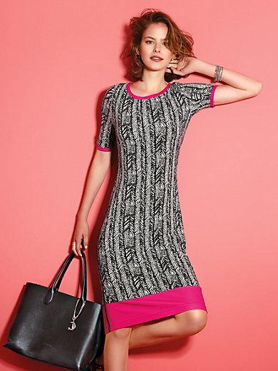 Looxent - Jersey-Kleid mit 1/2-Arm, schwarz/weiß meets beere