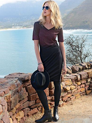 Looxent - Jersey-Kleid mit tiefem V-Ausschnitt und 1/2 Arm